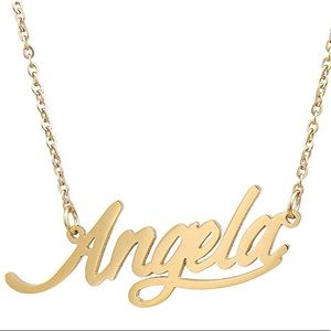 ✨ANGELA GOLD SWEETHEART NAME NECKLACE *NWT*✨